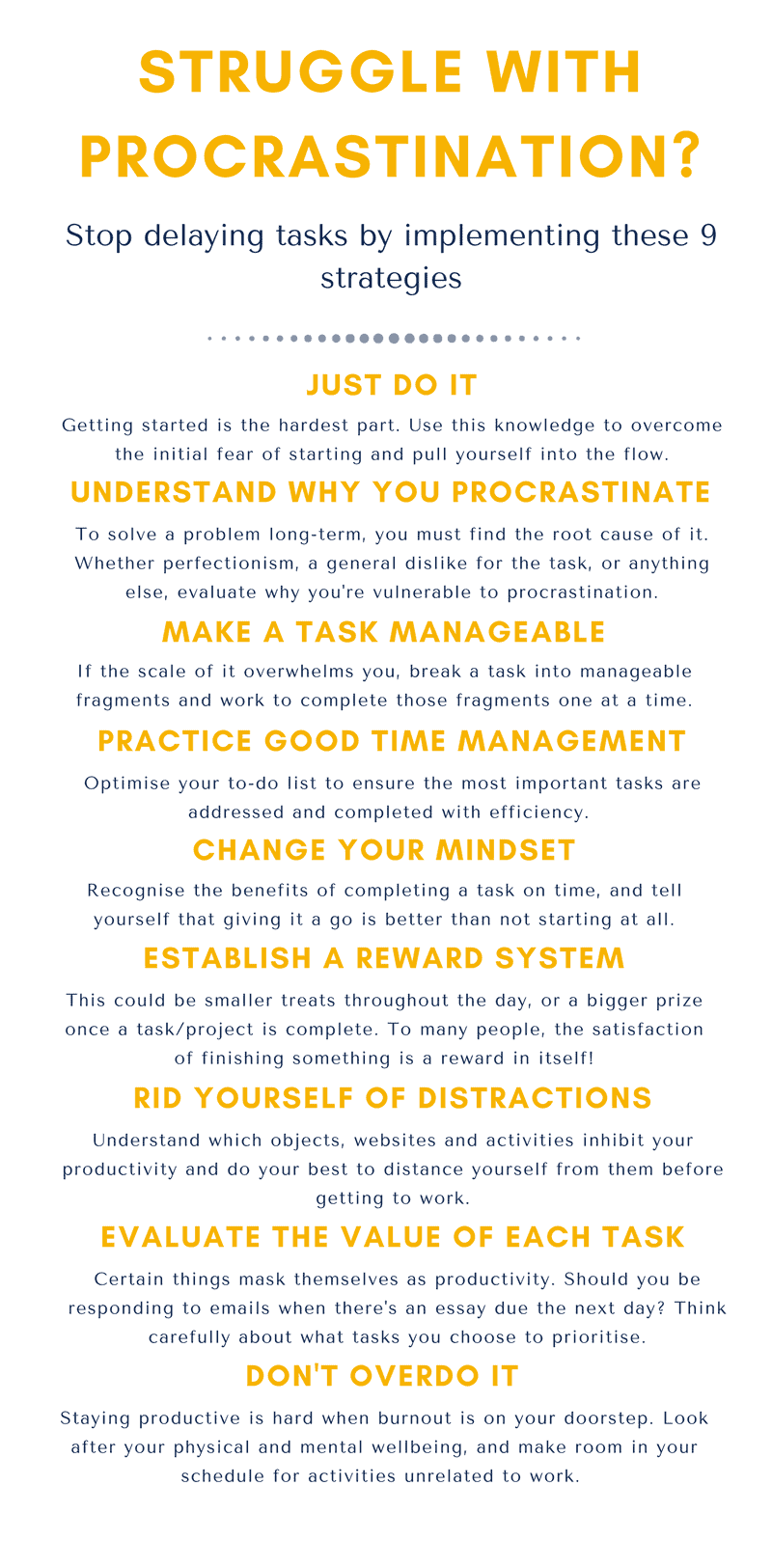 Struggling with procrastination? Use these nine strategies to overcome it and get things done with greater efficiency