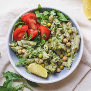 Easy Pea and Avocado Pesto (Vegan and Oil-free)