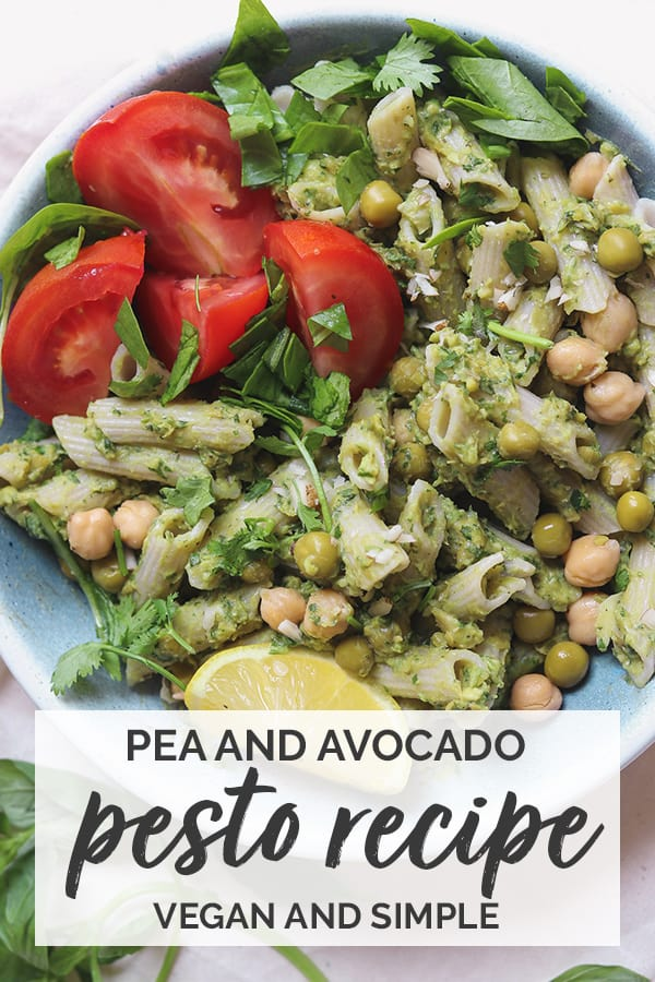 Pea and avocado pesto recipe vegan and simple