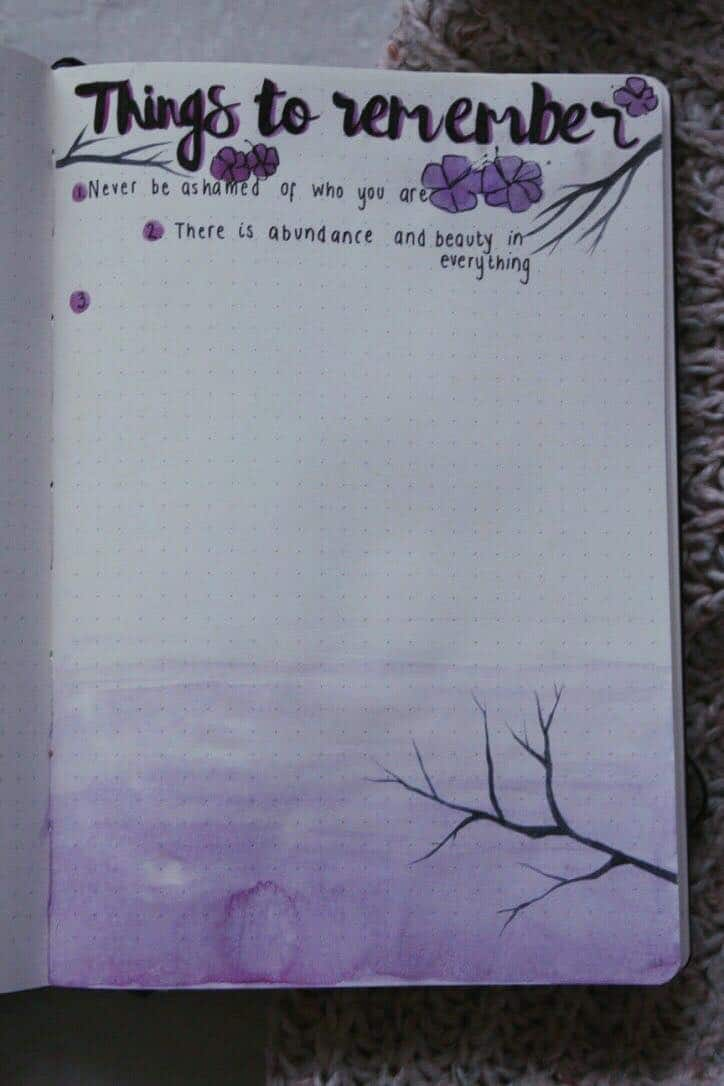 Bullet journal positive affirmations