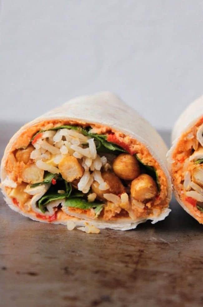 Vegan chickpea wrap recipe