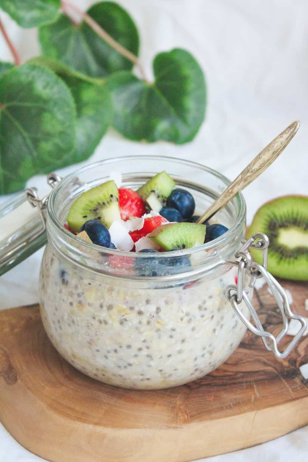Simple chia overnight porridge recipe