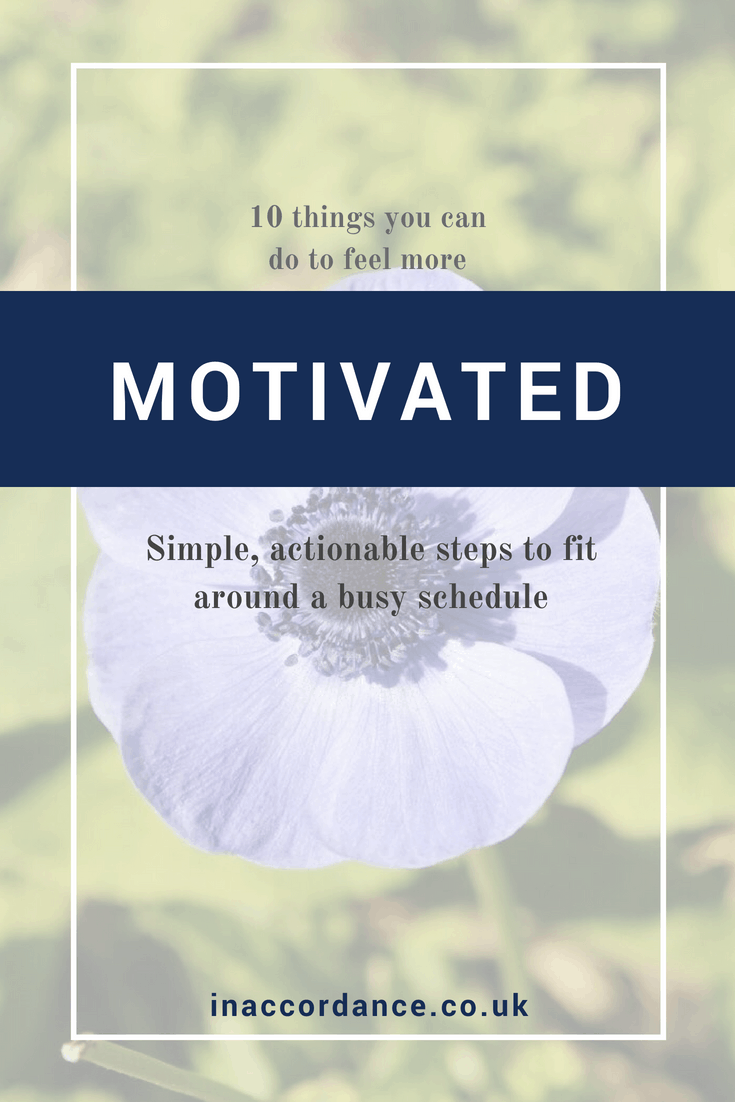 Do you feel less motivated than usual? These ten exercises are easy to implement into your daily schedule to re-energise your passion for the things you do in life.