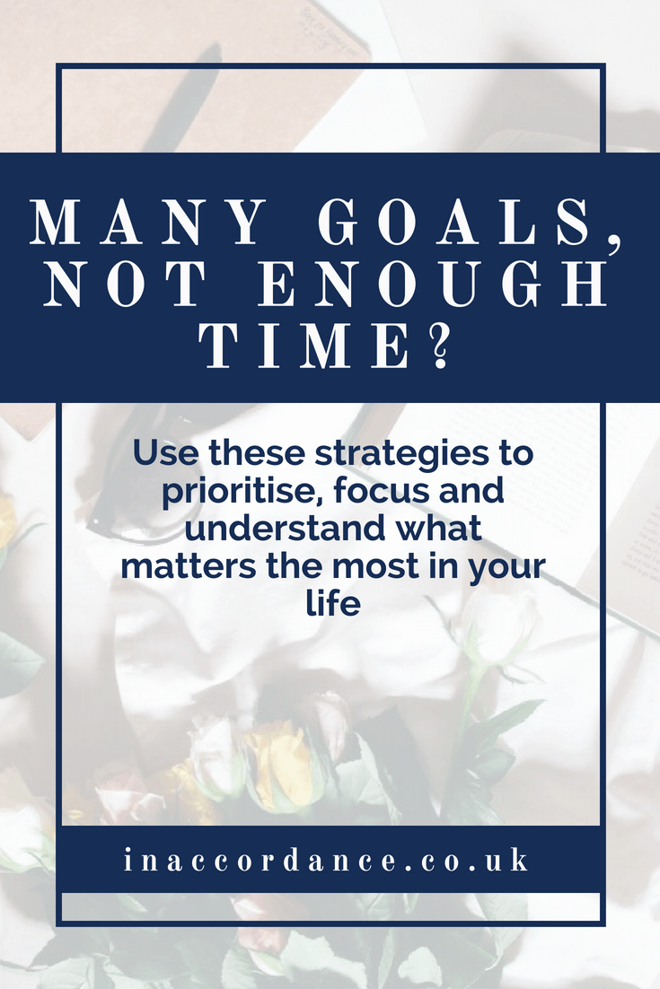 Many goals, not enough time to focus on them all? Here's what you can do to get focused and prioritise