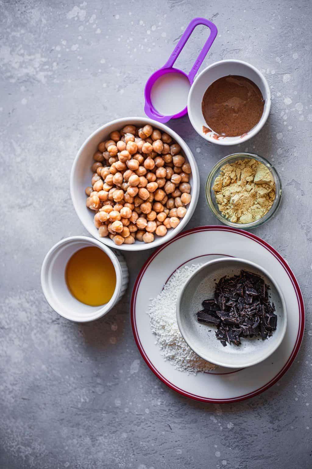Vegan cookie dough ingredients