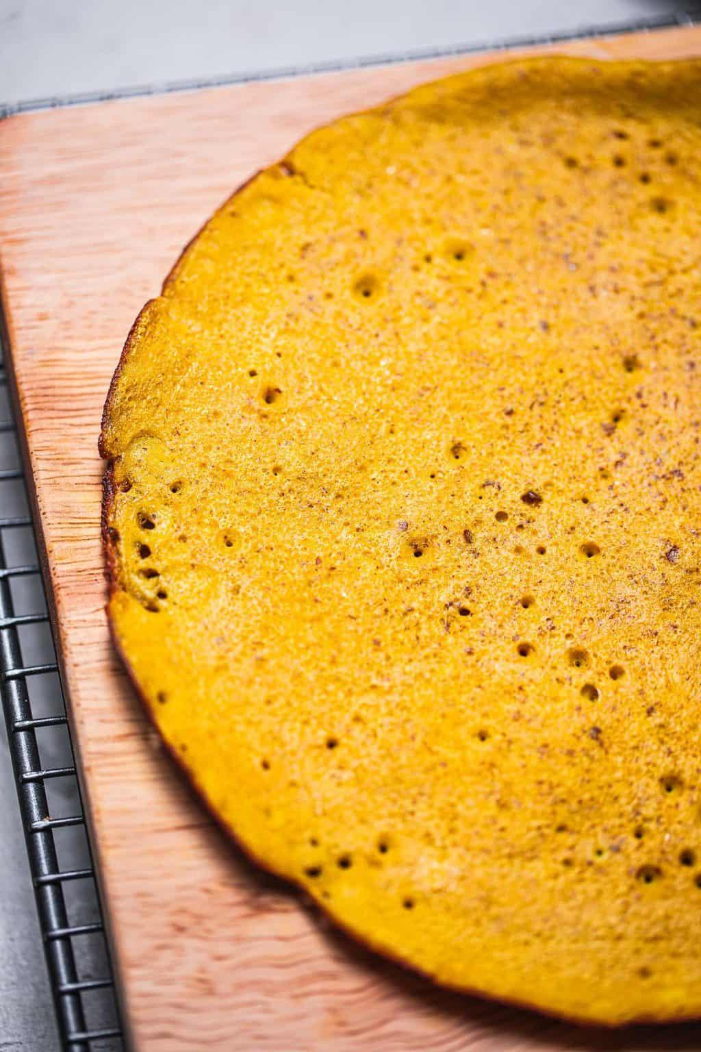 Vegan omelette made from chickpea flour