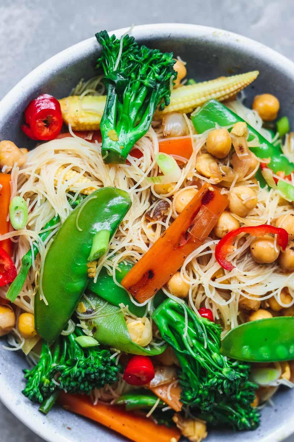 Vegan lime chickpea stir-fry