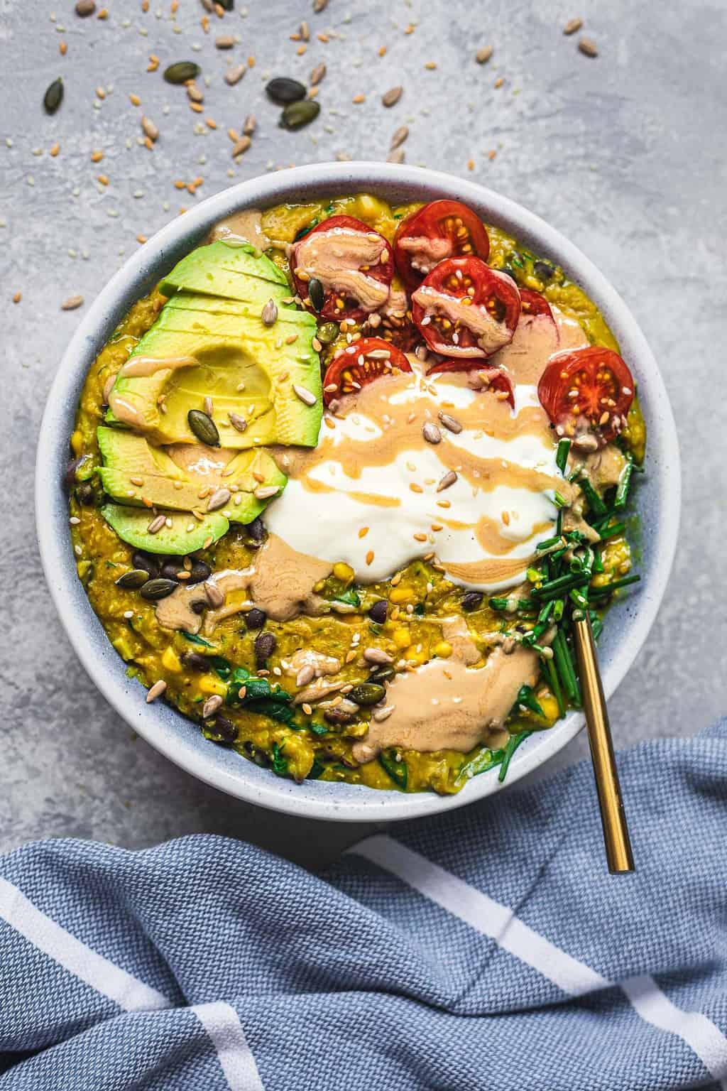 Easy vegan savoury porridge