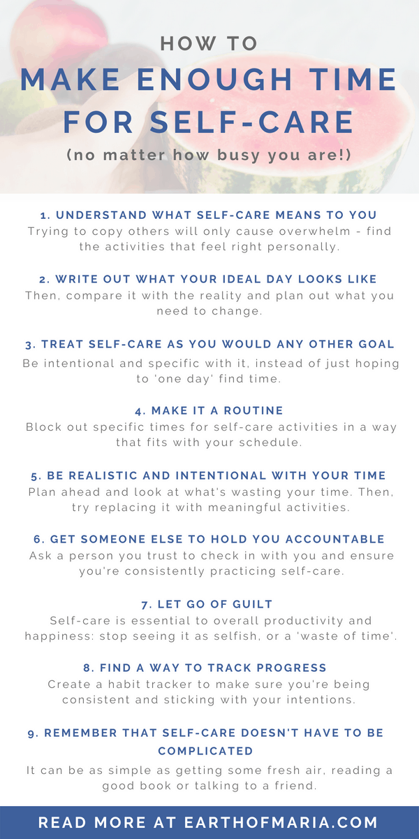 How to make enough time for self-care even when you're busy