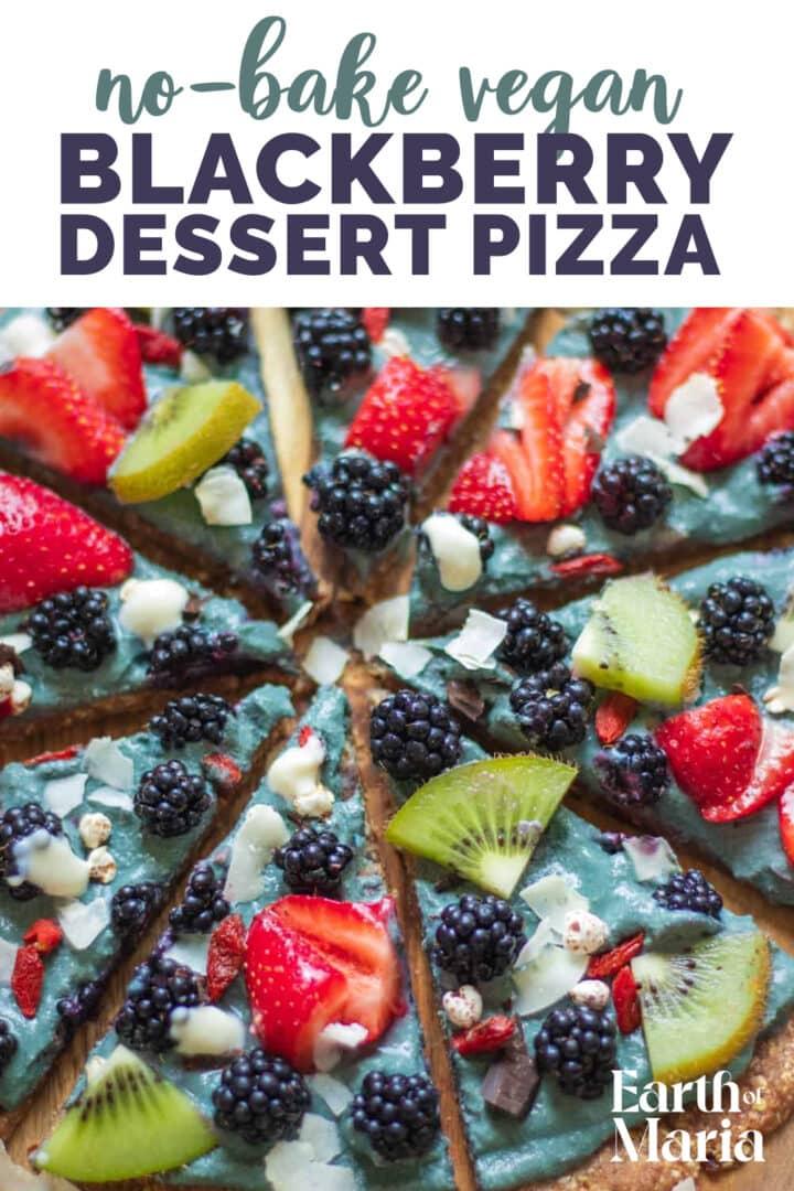 No-bake blackberry dessert pizza