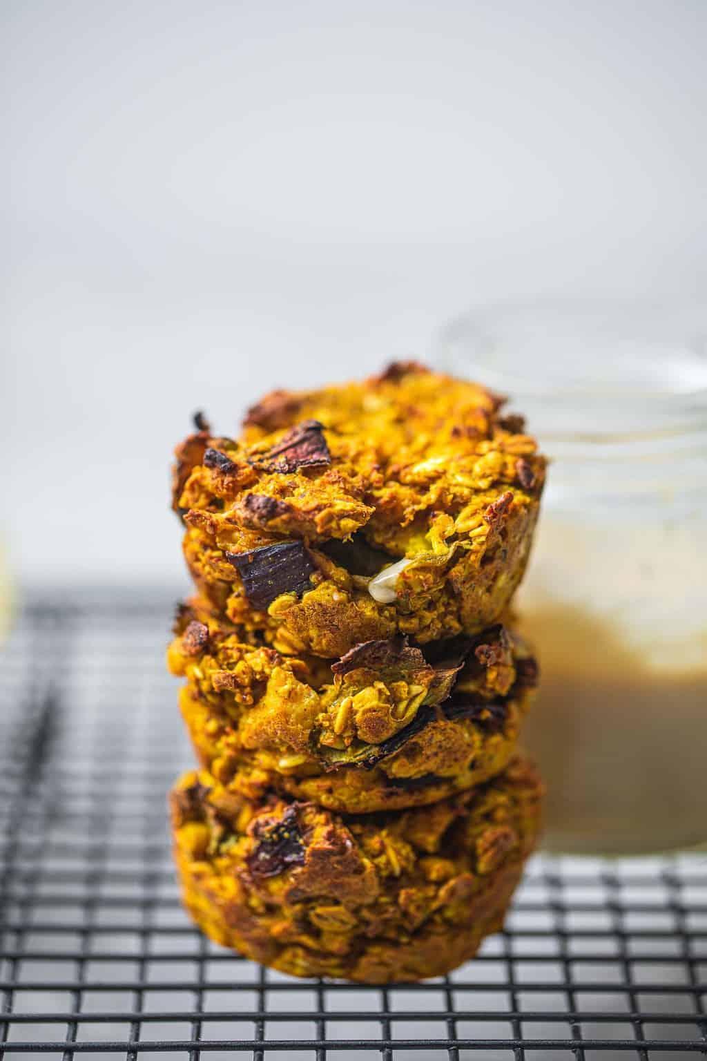 Oat and tofu vegan 'egg' muffins