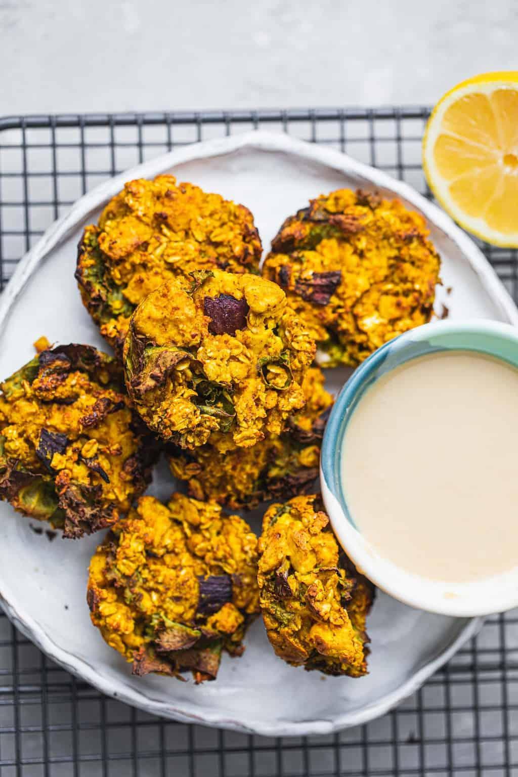 Oat and tofu vegan 'egg' muffinns