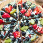 No bake blackberry dessert pizza vegan gluten free