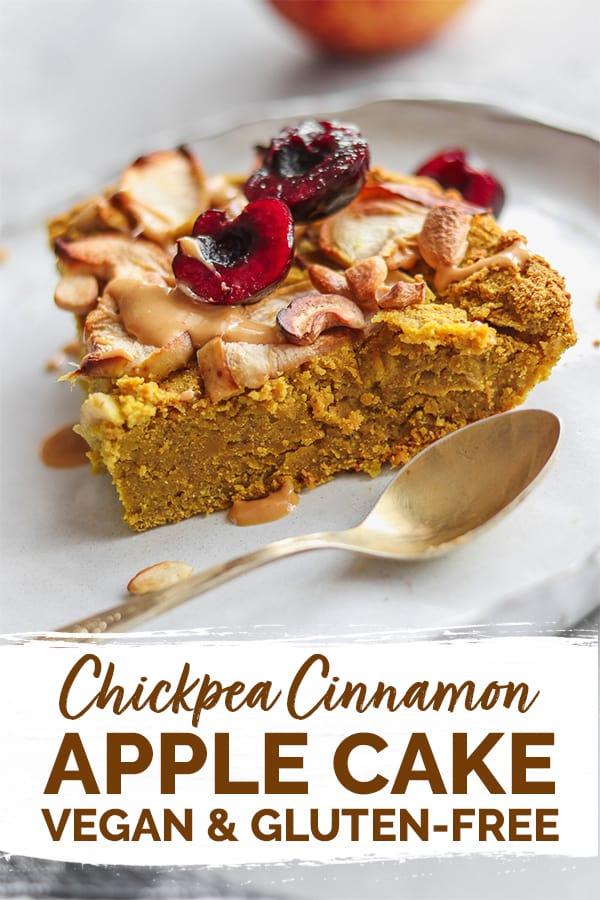 Chickpea cinnamon apple cake Pinterest