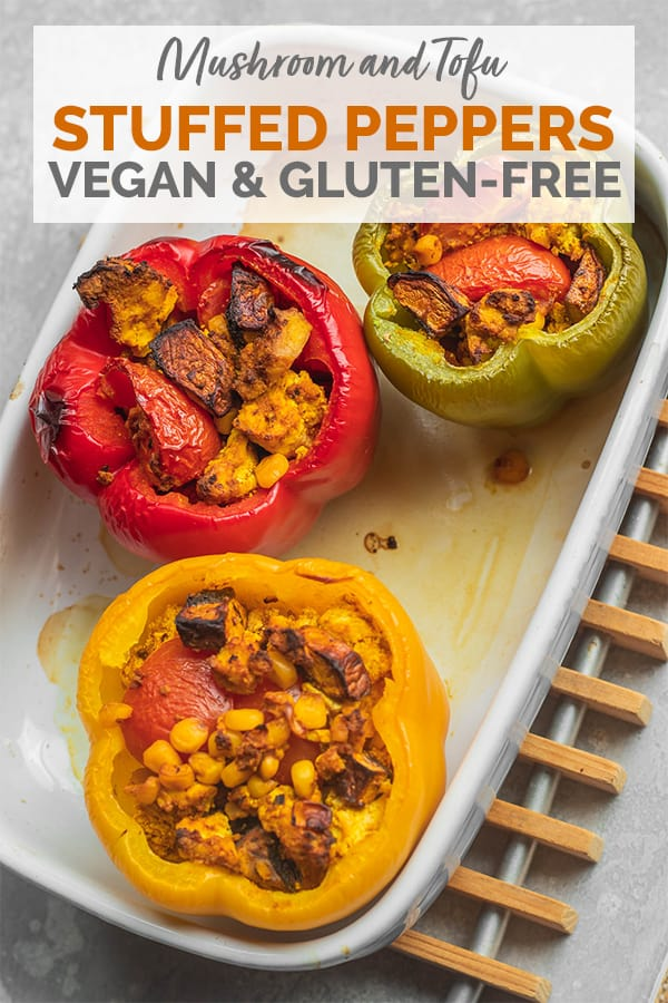 Mushroom tofu stuffed peppers Pinterest