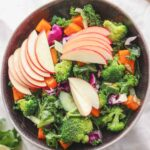 Maple butternut squash autumn salad with kale and apple