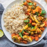 Easy vegan vegetable pumpkin stir-fry