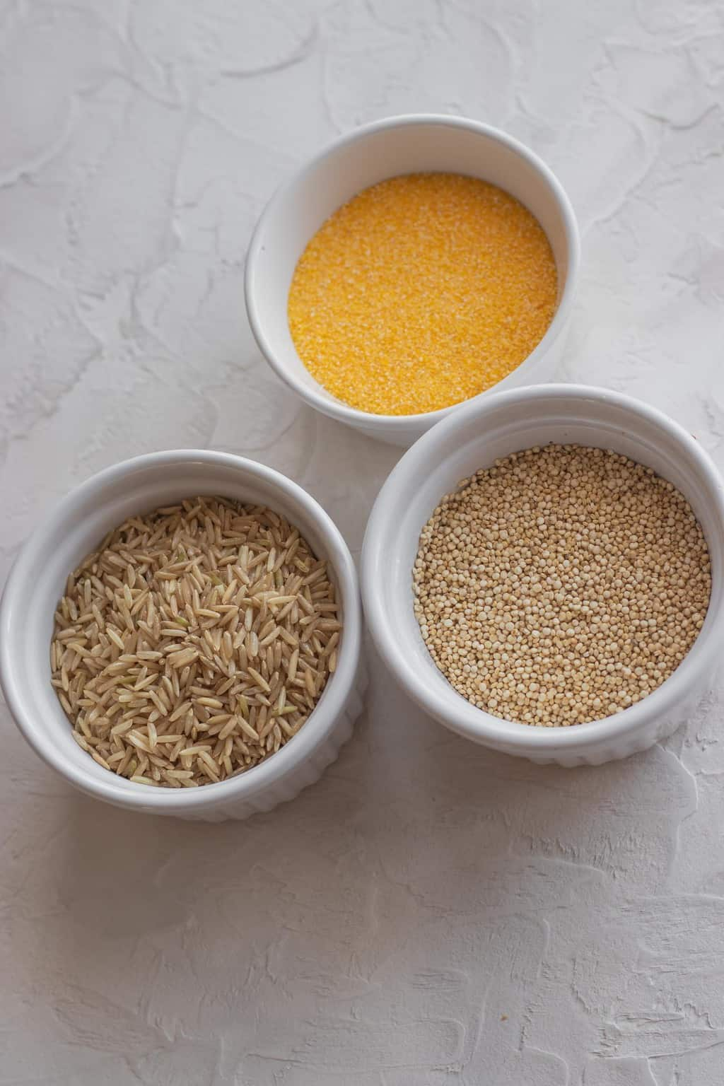 Grains vegan pantry staples
