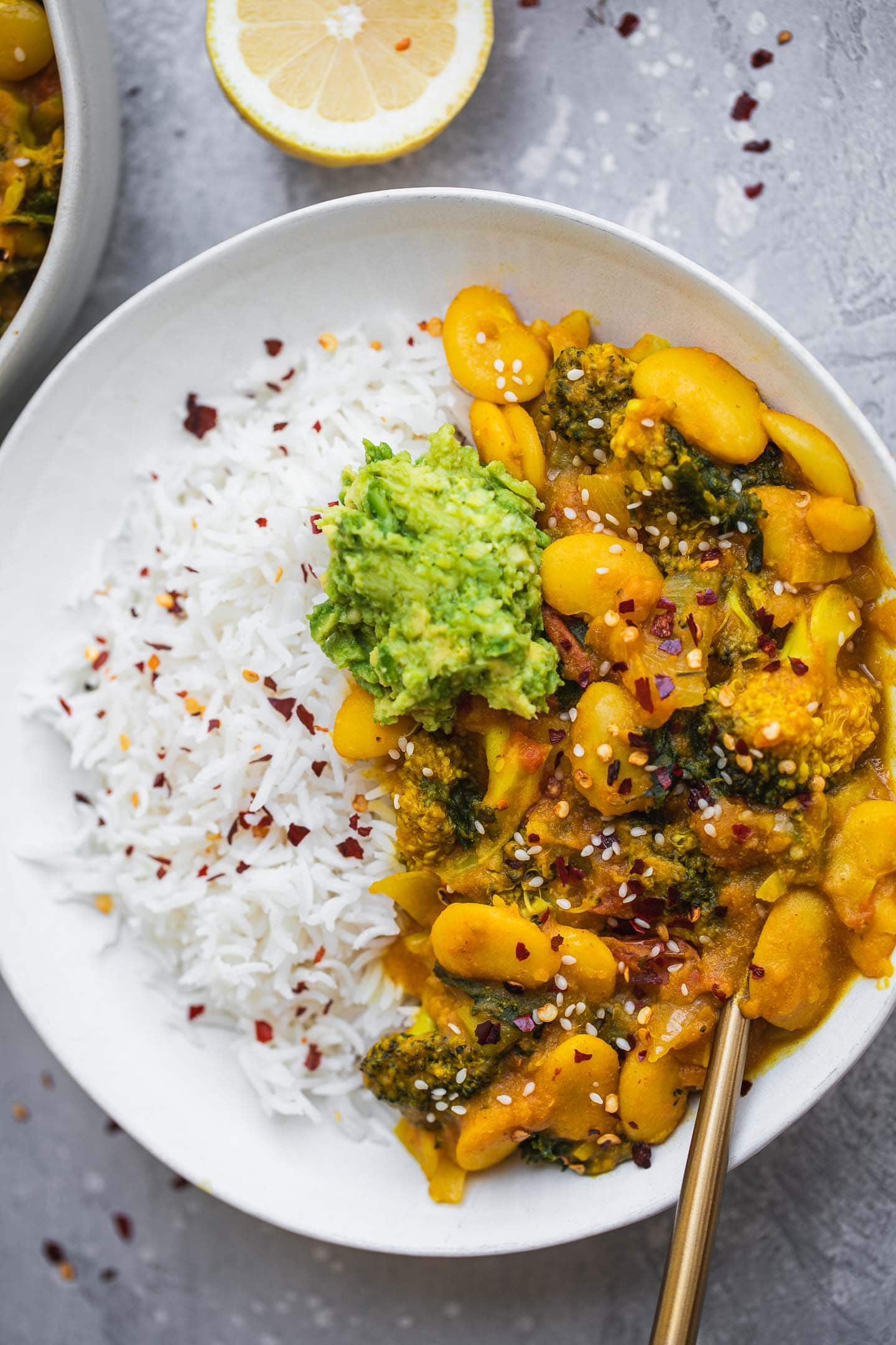 Vegan butter bean sweet potato stew