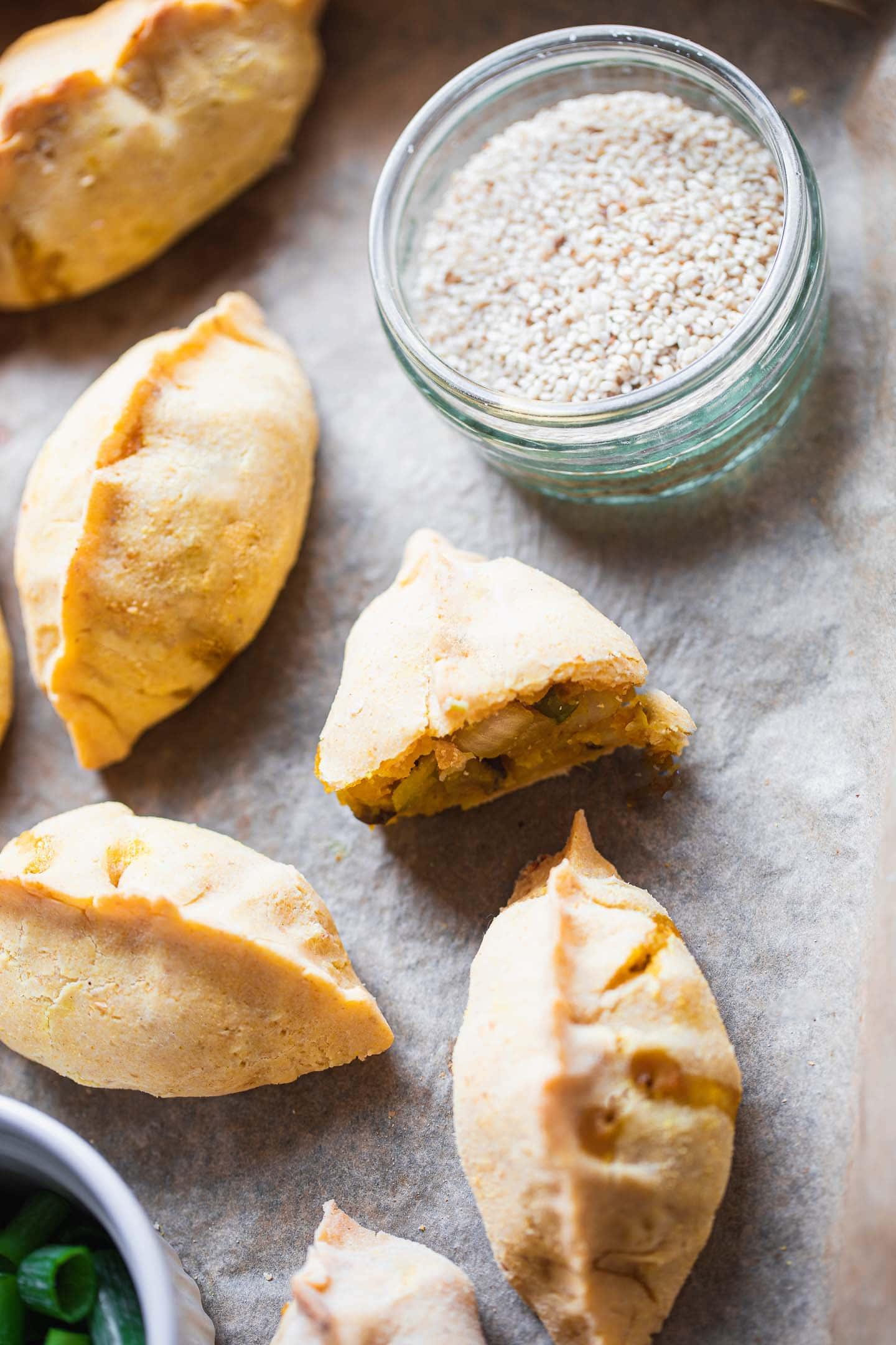 Gluten-free vegan mushroom and potato piroshki