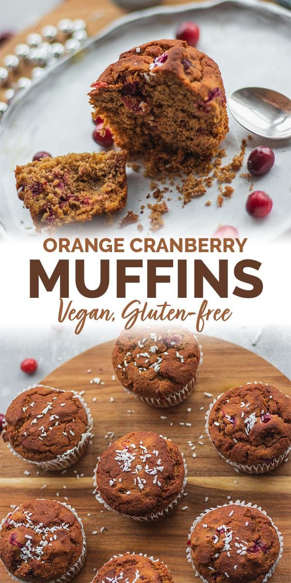 Orange cranberry muffins vegan gluten-free Pinterest