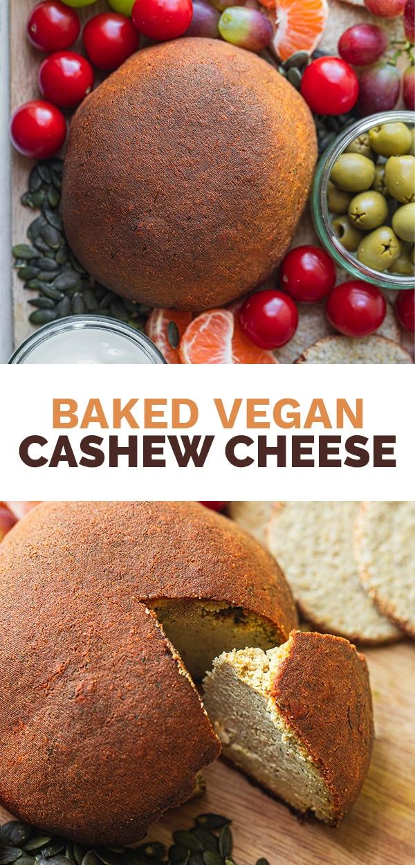 Baked vegan cashew cheese