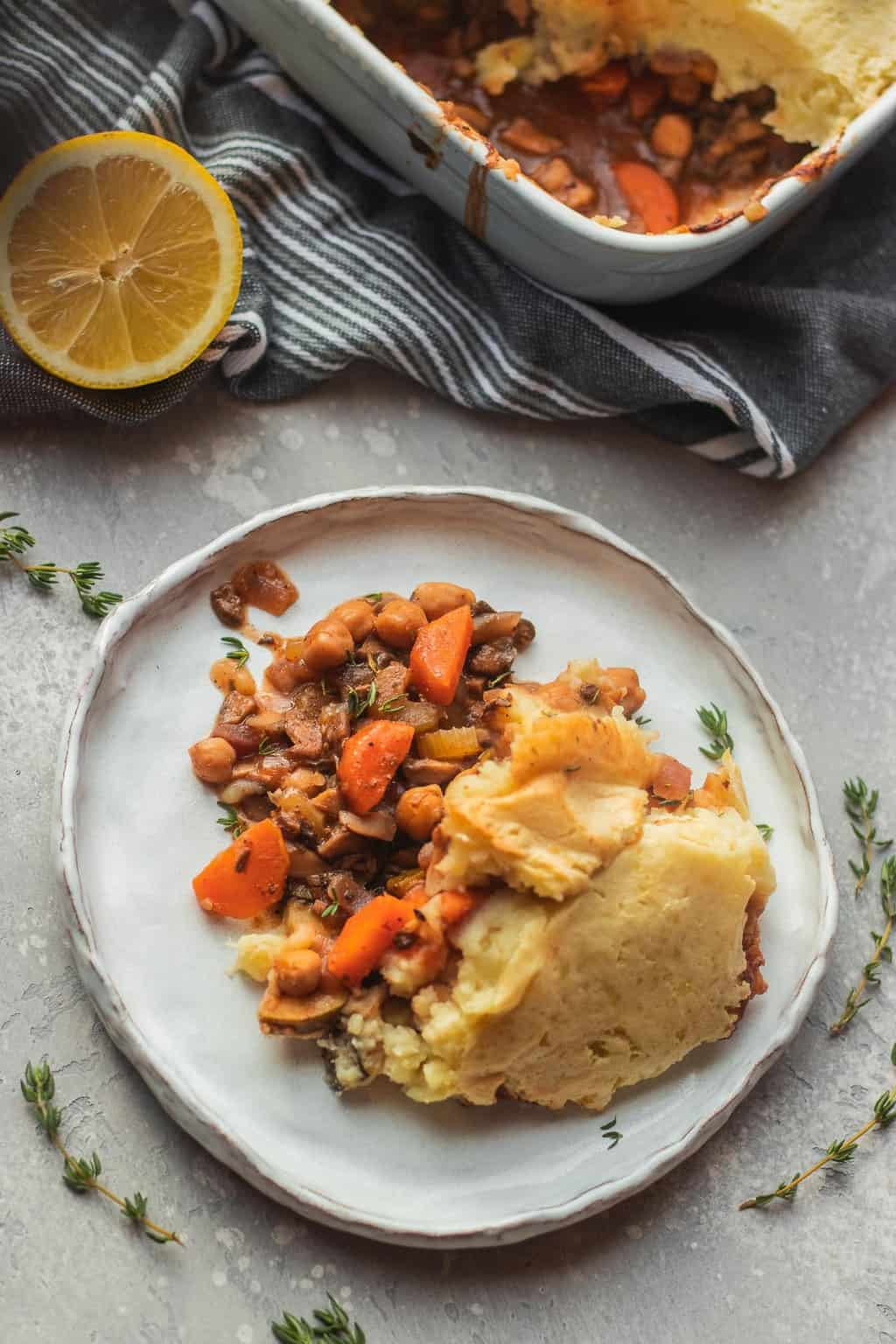 Easy vegan chickpea Shepherd's pie