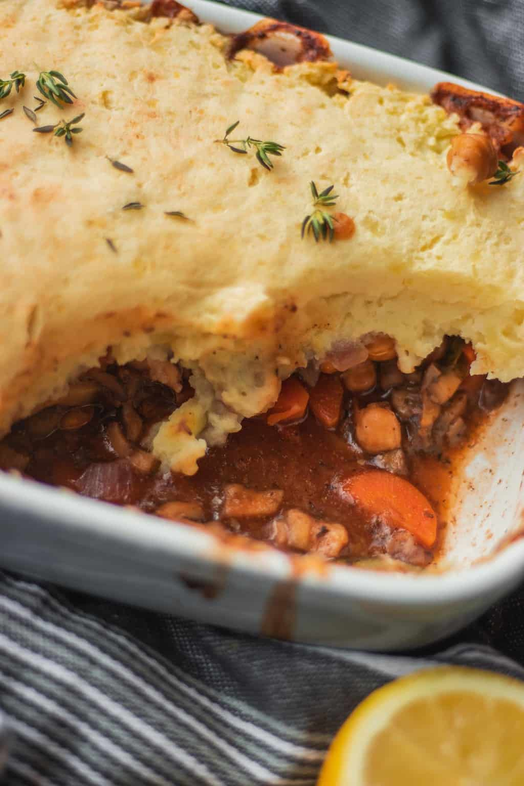 Easy vegan Shepherd's pie with chickpeas