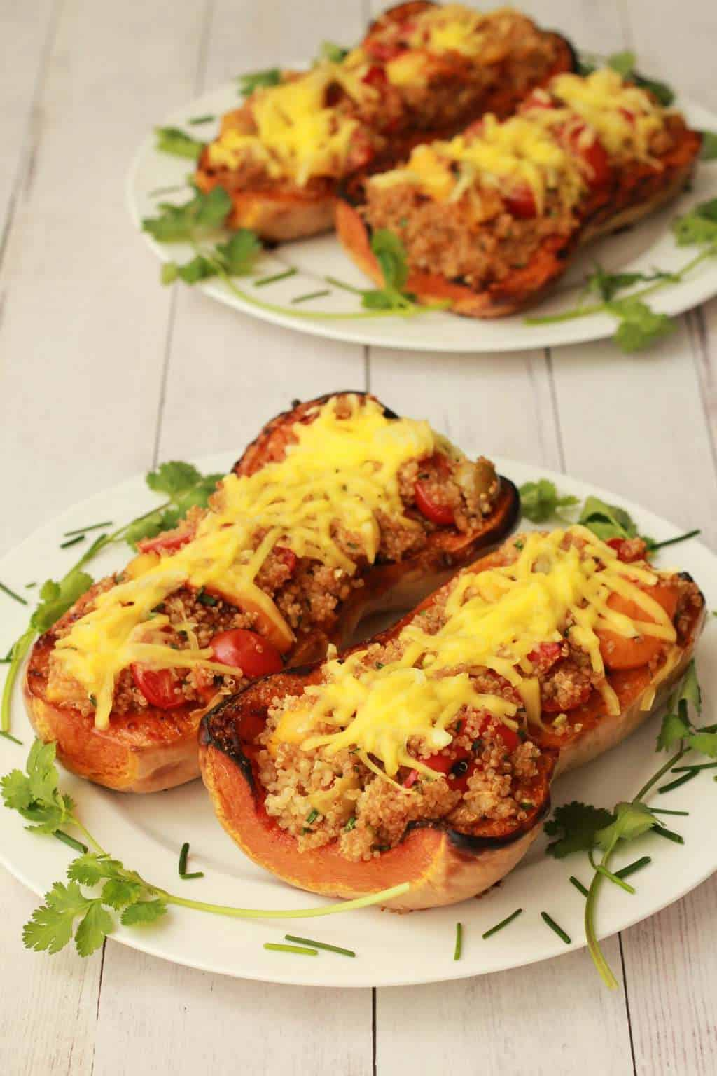 Stuffed roasted butternut Loving It Vegan