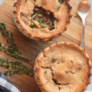 Vegan pot pie with jackfruit gluten-free