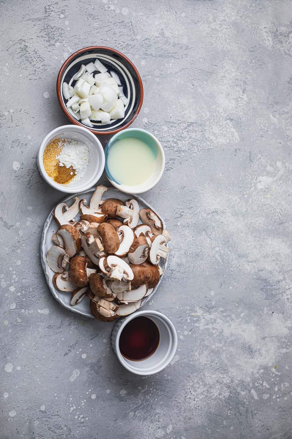 Creamy mushroom ingredients