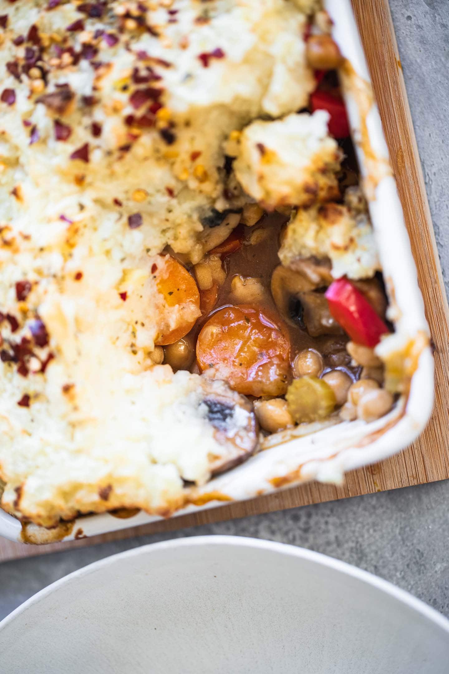 Vegan chickpea Shepherd's pie
