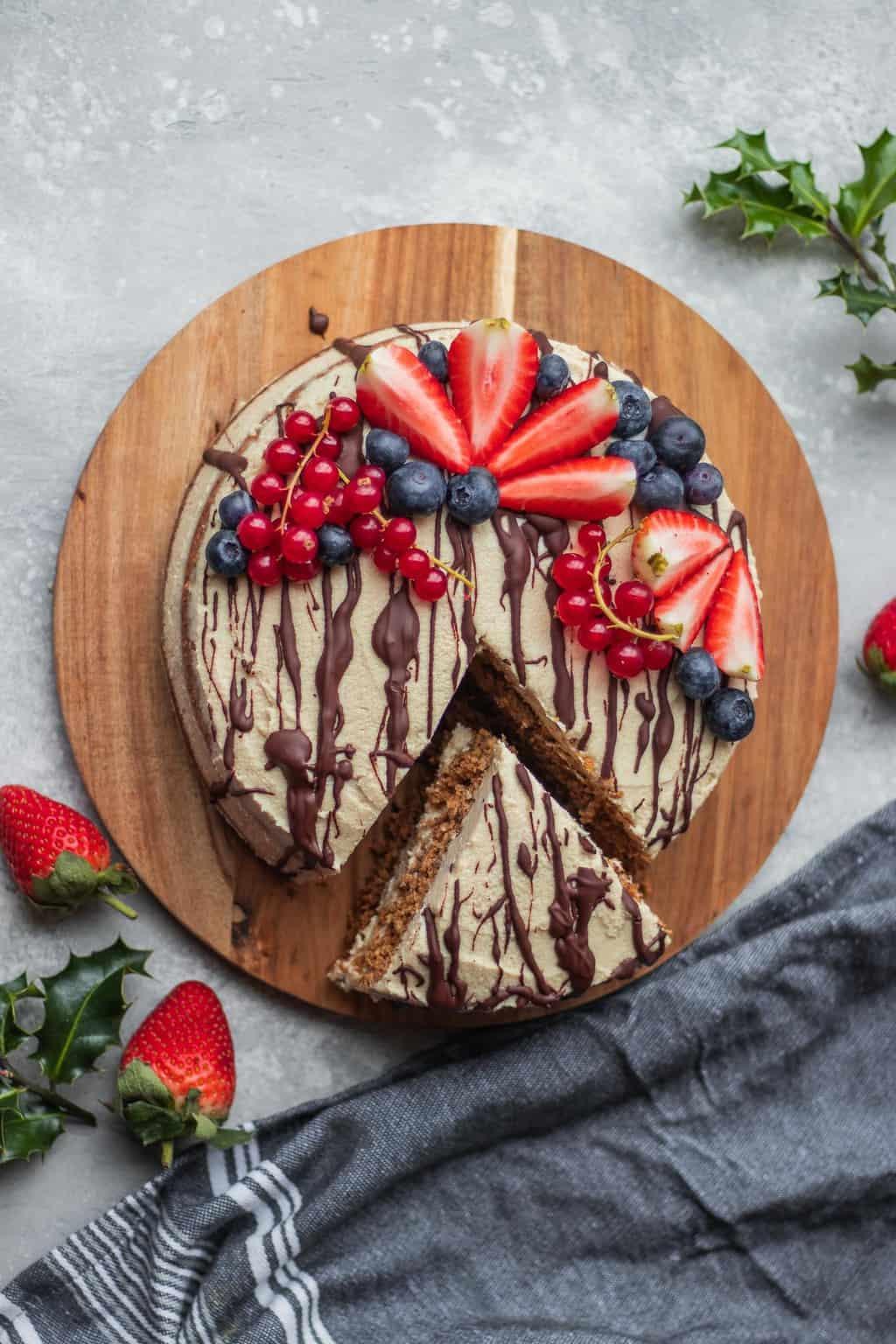 Gluten-free vegan gingerbread cake
