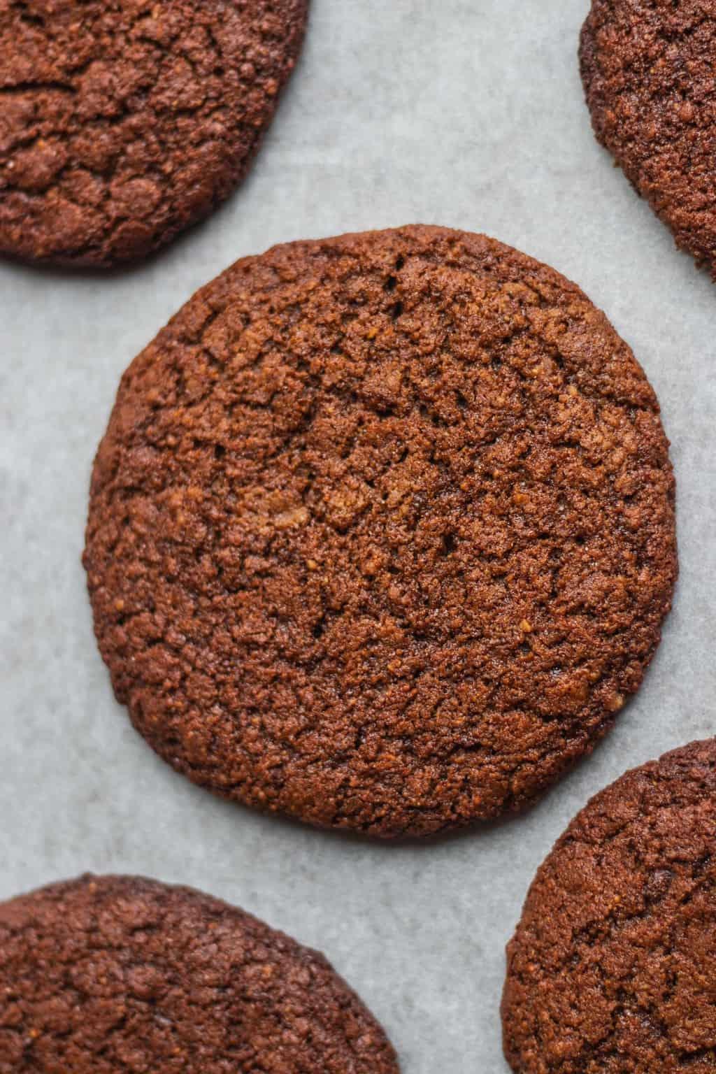 Vegan peanut butter cookies with tahini gluten-free