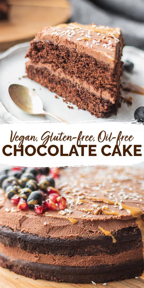 Easy gluten-free vegan chocolate cake Pinterest