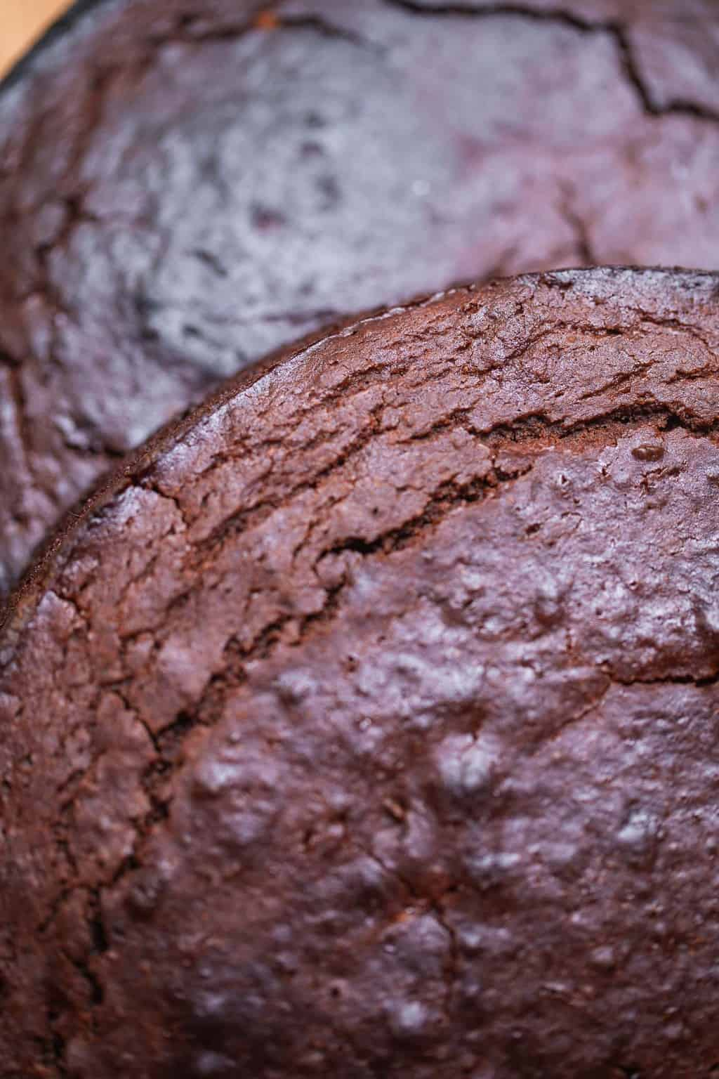 Gluten-free vegan chocolate cake sponges