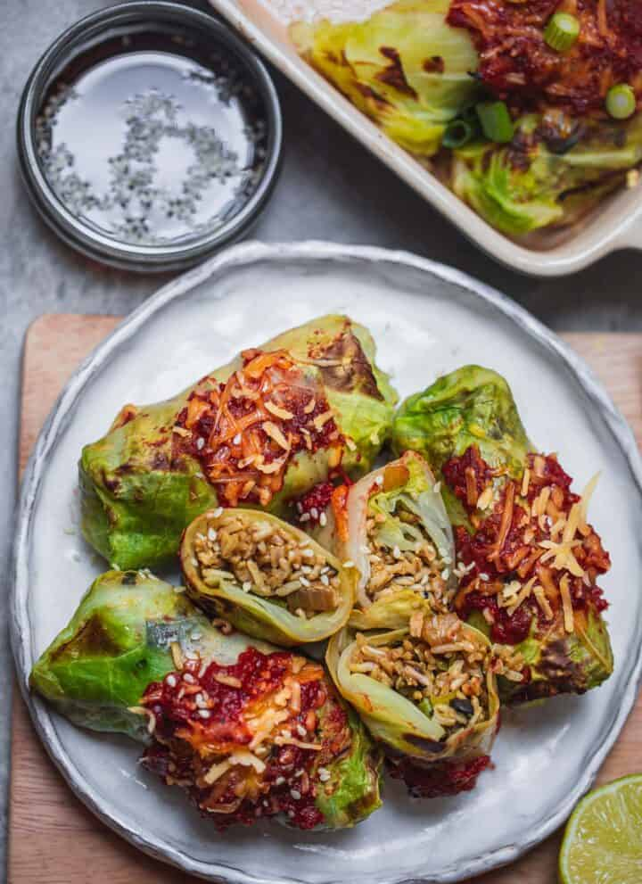 Vegan stuffed cabbage rolls recipe