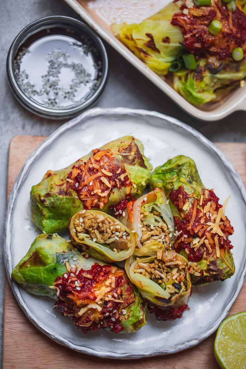 Vegan Stuffed Cabbage Rolls Recipe Earth Of Maria