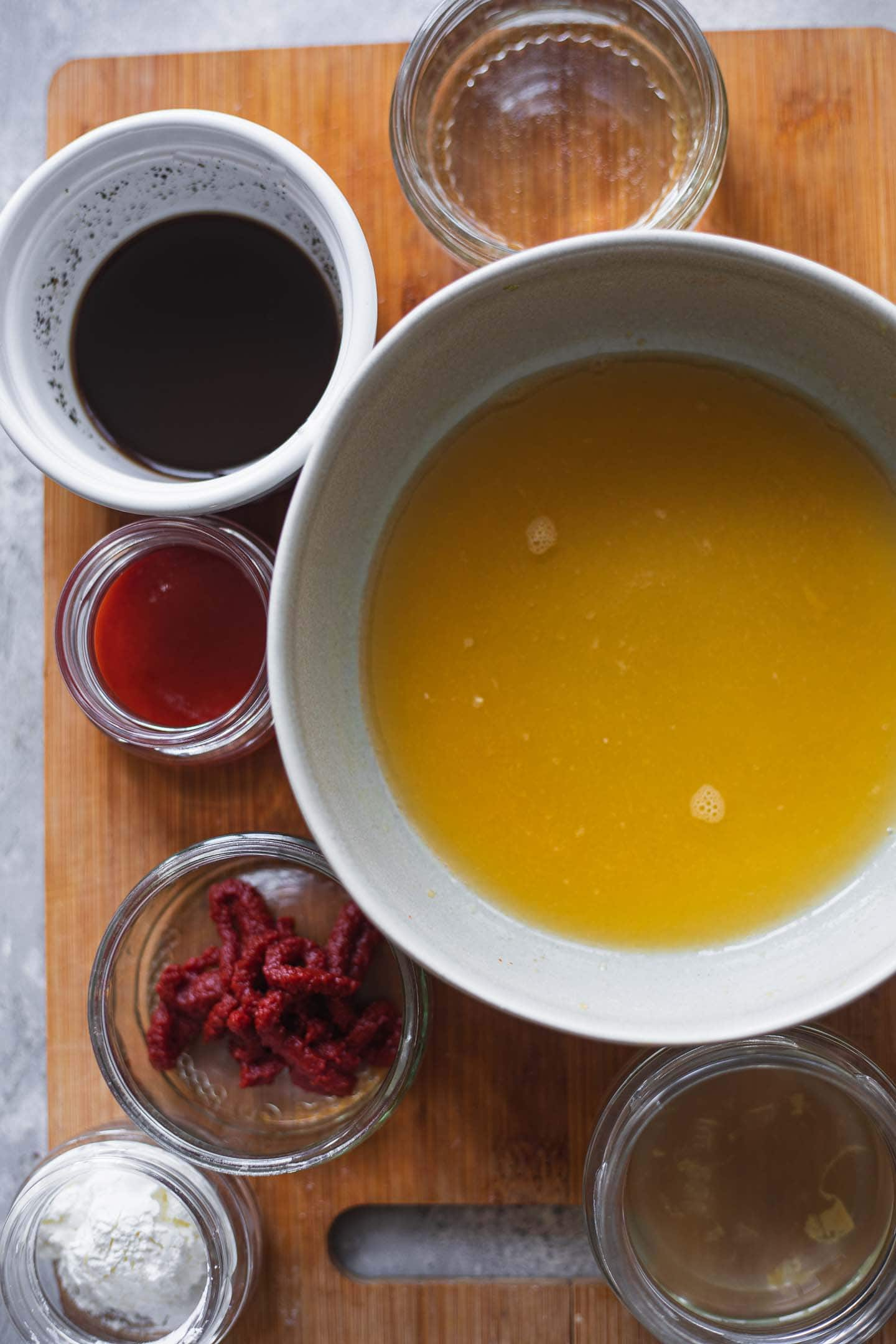 Ingredients for a sweet and sour sauce