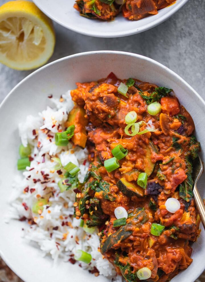 Vegan Red Lentil Cauliflower Dahl-7