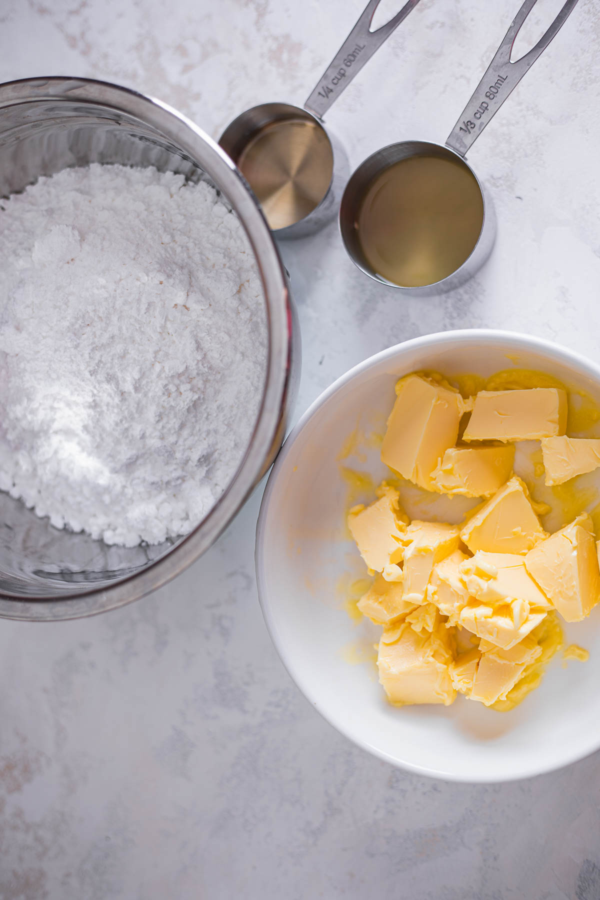 Ingredients for vegan frosting
