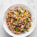 Mushroom buckwheat porridge bowl vegan