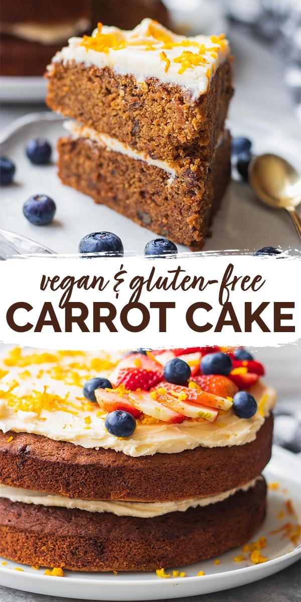 Vegan carrot cake gluten-free Pinterest
