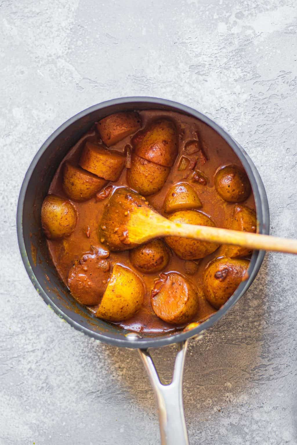 Potato curry sauce