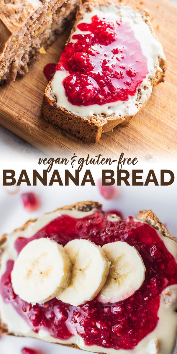 Gluten-free vegan banana bread Pinterest