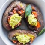 Spicy Kidney Bean Vegan Baked Potatoes
