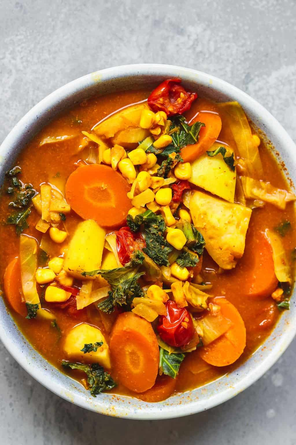 Chunky vegan potato soup