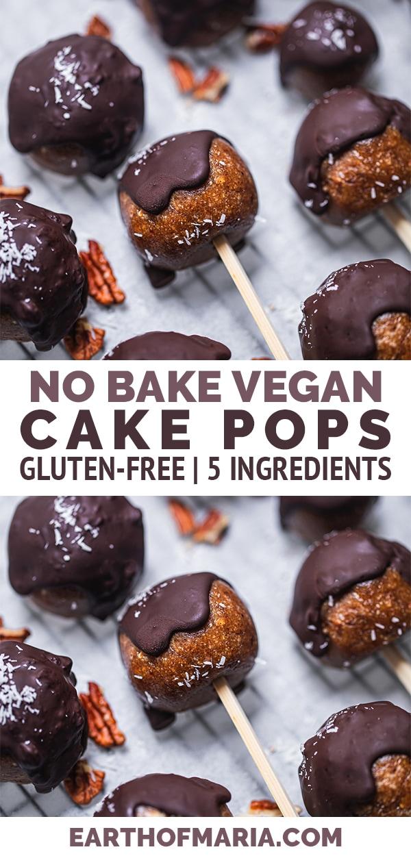 No-bake vegan cake pops gluten-free