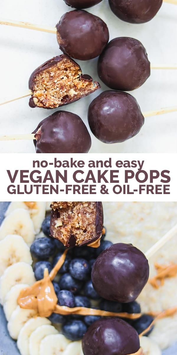 No-bake vegan cake pops Pinterest