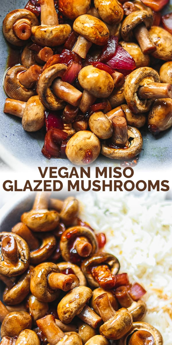 Vegan miso glazed mushrooms Pinterest